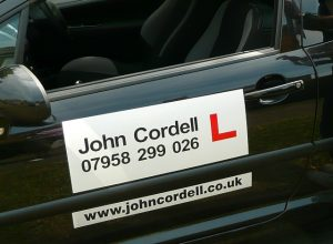 John Cordell driving lessons car