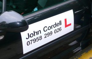 driving instructor sign